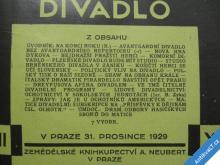 ČESKOSLOVENSKÉ DIVADLO r. XII. 1929 Neubert