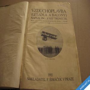 foto VZDUCHOPLAVBA letadla a balony  Trůneček Josef 1911