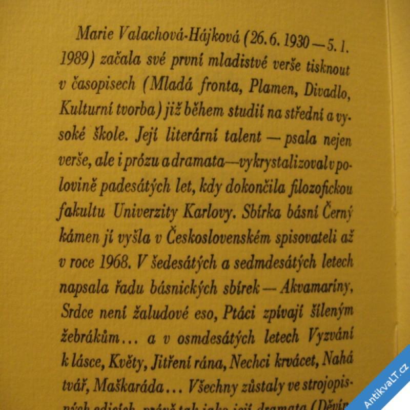 foto Valachová Hájková Marie PROČ 1990 Dudek J., Švandelík J., papír Losiny