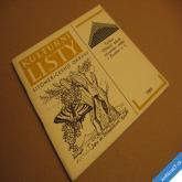 KULTURNÍ LISTY LITOMĚŘICKÉHO OKRESU 1989 vlastivěda, umění...