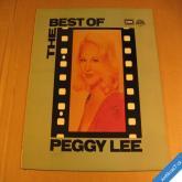 Peggy Lee THE BEST OF 1989 LP Emi Supraphon