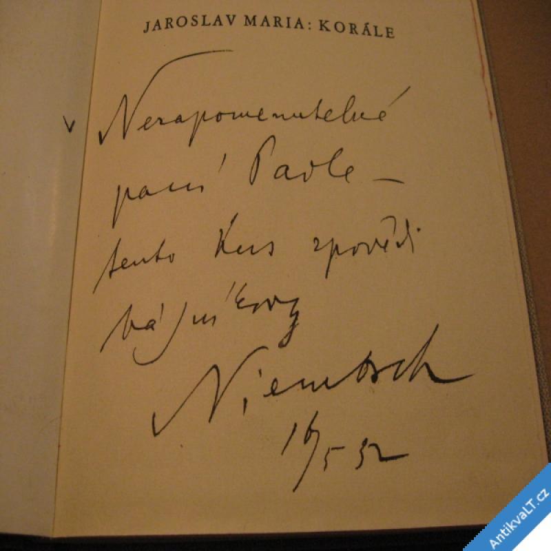 foto Maria Jaroslav KORÁLE 1932 Sfinx ob. Štyrský J. (věnování autorovo ?)