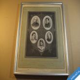 Bismarck Otto a jeho rodina starý fotoobraz cca 1875
