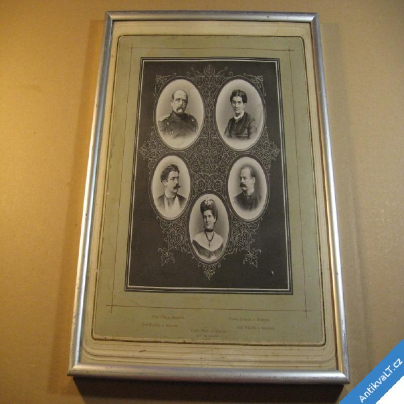 foto Bismarck Otto a jeho rodina starý fotoobraz cca 1875