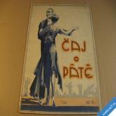 ČAJ O PÁTÉ noty blues, tango... nakl. Accord Praha 1927