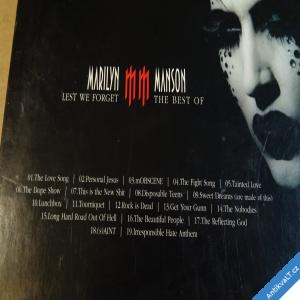 foto Manson Marilyn LEST WE FORGET Best Of 2004 Interscope CD