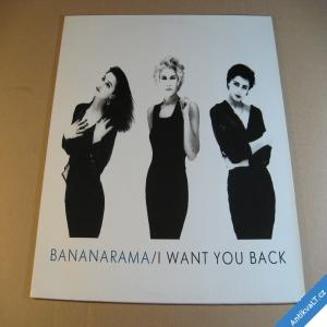 foto BANANARAMA I WANT YOU BACK maxisingl 1988 London / Metronom LP