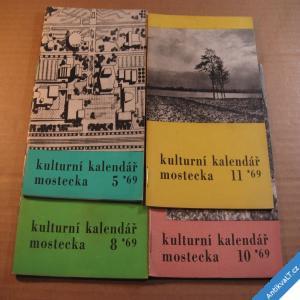 foto KULTURNÍ KALENDÁŘ MOSTECKA č. 5, 8, 10, 11 r. 1969