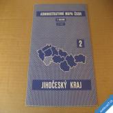 ADMIN. MAPA ČSSR - NÁSTĚNNÁ JIHOČESKÝ KRAJ 72 x 85 cm 1960