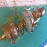 STAROŽITNÁ MASIVNÍ LAMPA MOSAZ SKLO lodní, stěnová...?