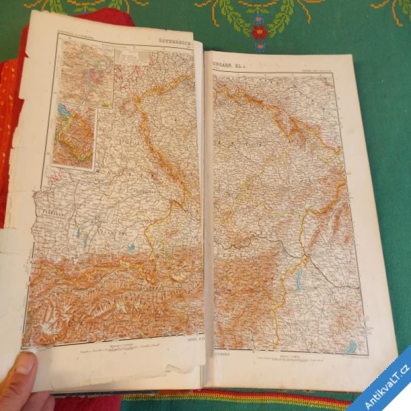 foto STIELERS HAND ATLAS 100 karten in kupferstich 162 nebenkarten 1905