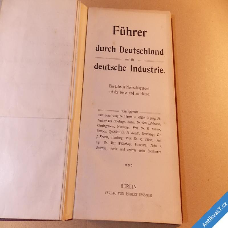foto FÜHRER DURCH DEUTSCHLAND UND DIE DEUTSCHE INDUSTRIE cca 1906 Berlin
