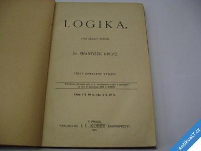foto    LOGIKA  KREJČÍ F.  1913 KOBER