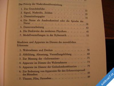 foto    MENSCH UND KYBERNETIK  SCHWENTEK 1965 STUTTGART